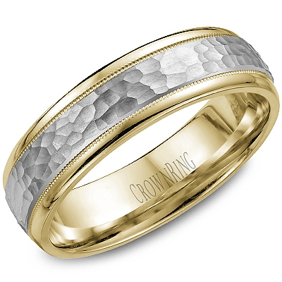 Wedding Band by Crown Ring